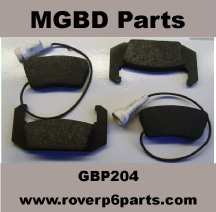 ROVER P6 REAR BRAKE PADS