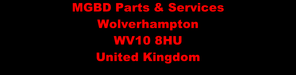 MGBD Parts & Services Wolverhampton WV10 8HU United Kingdom